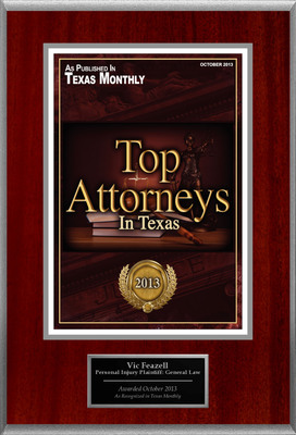 Attorney Vic Feazell Selected for List of Top Rated Lawyers in TX