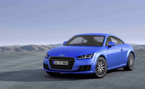 Annual Press Conference 2014. Fuel consumption figures of the new Audi TT: This car is not yet on sale. It has not yet been homologated and is therefore not subject to the 1999/94/EG guideline. Provisional data: Combined fuel consumption in l/100 km: 7.1 - 4.2; Combined CO2-emissions in g/km: 164 - 110 (PRNewsFoto/Audi AG)