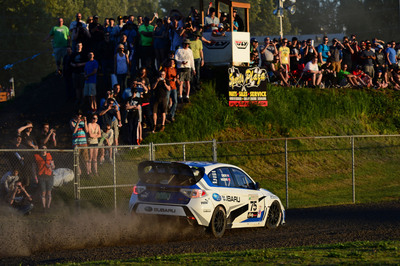 SRT USA Won 3 of 4 Stages; Friday evening at Portland International Raceway.  (PRNewsFoto/Subaru of America, Inc.)
