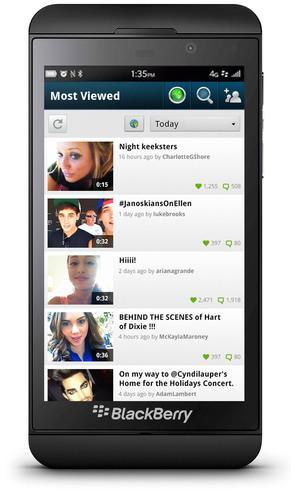 Keek lanza la aplicación de video social para BlackBerry