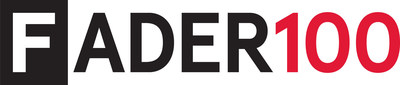 The FADER 100 logo