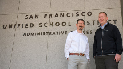 Eric Heinrich (left), director of Technology Infrastructure for the San Francisco Unified School District, and David Burns (right), network manager for the San Francisco Unified School District. (PRNewsFoto/Ruckus Wireless, Inc.)