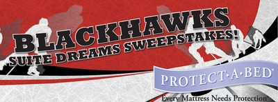 Enter the Suite Dreams sweepstakes to win two tickets in a Chicago Blackhawks suite.  (PRNewsFoto/Protect-A-Bed)