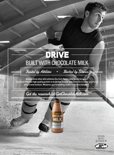 Zach Parise Stars in National Campaign Spotlighting Recovery Benefits of Chocolate Milk.  (PRNewsFoto/MilkPEP)