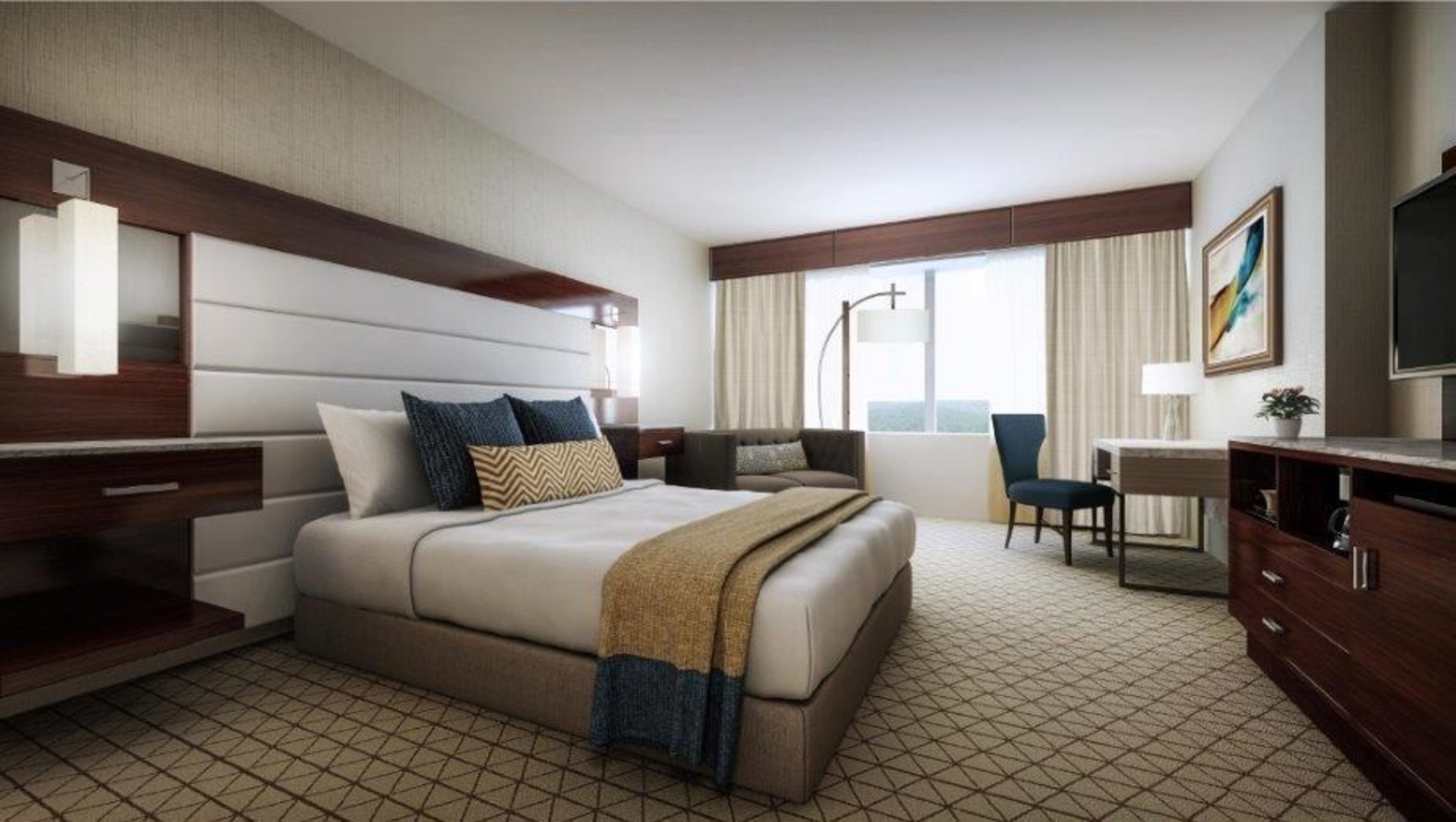 Renovated Room in Mohegan Sun's Sky Tower Hotel in Uncasville, CT