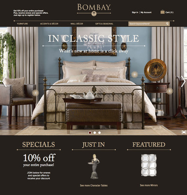the bombay company unveils new site for online shopping