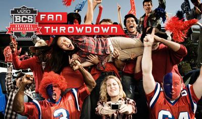VIZIO 2014 BCS National Championship Fan Throwdown Invites Loyal Fans to Prove Their Fandom to Win Once-In-A-Lifetime Experience. (PRNewsFoto/VIZIO, Inc.)