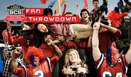 VIZIO 2014 BCS National Championship Fan Throwdown Invites Loyal Fans to Prove Their Fandom to Win Once-In-A-Lifetime Experience. (PRNewsFoto/VIZIO, Inc.)