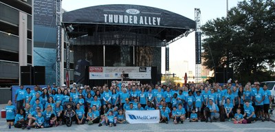 More than 250 WellCare Health Plan Inc. associates and their families gather for the Step Out: Tampa Bay Walk to Stop Diabetes. The WellCare Community Foundation was the presenting sponsor of the walk and donated $35,000.