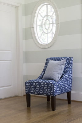 The Venda (starting at $515 with free shipping in the US) is a unique occasional chair that serves as a refined accent piece in a formal living room or the kid's play area. The Venda features slim, swooped arms and welted detail along the arms and seat.