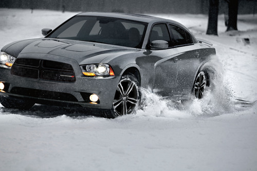 2013 Dodge Charger AWD Sport winter driving precision.  (PRNewsFoto/Chrysler Group LLC)