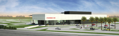 Rendering of the Porsche Experience Center in North America, in Carson, California.  (PRNewsFoto/Porsche Cars North America, Inc.)