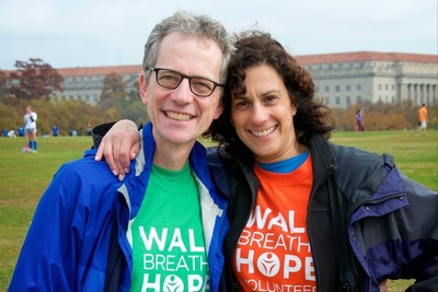 Jerry Sorkin and wife Lisa at Breathe Deep DC lung cancer walk. Jerry, LUNGevity's Vice Chairman of the Board, died on October 26, 2016.