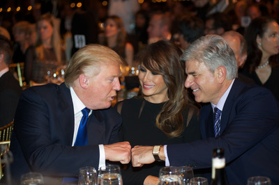Donald Trump, Melania Trump, Michael Fascitelli (Child Mind Institute Child Advocacy Award Recipient)