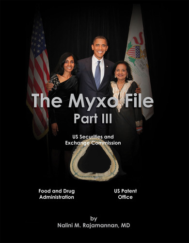 The Myxo File Part III, on Amazon.com and meeting with President Obama during his birthday celebration at The Chicago Cultural Center, August 4, 2010.  (PRNewsFoto/Nalini Rajamannan, MD)