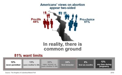 More than 8 in 10 Americans - including 66 percent of those who are pro-choice - support substantial restrictions on abortion, according to a survey conducted by The Marist Poll and released this week.
