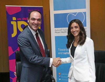 Merck and the Royal Health Awareness Society Partner to Advance Women's Health in Jordan. Photo by Bennett Raglin/AP Images for Merck (PRNewsFoto/Merck)