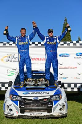 SRT USA Wins 3rd Straight Oregon Trail Rally - 2013.  (PRNewsFoto/Subaru of America, Inc.)