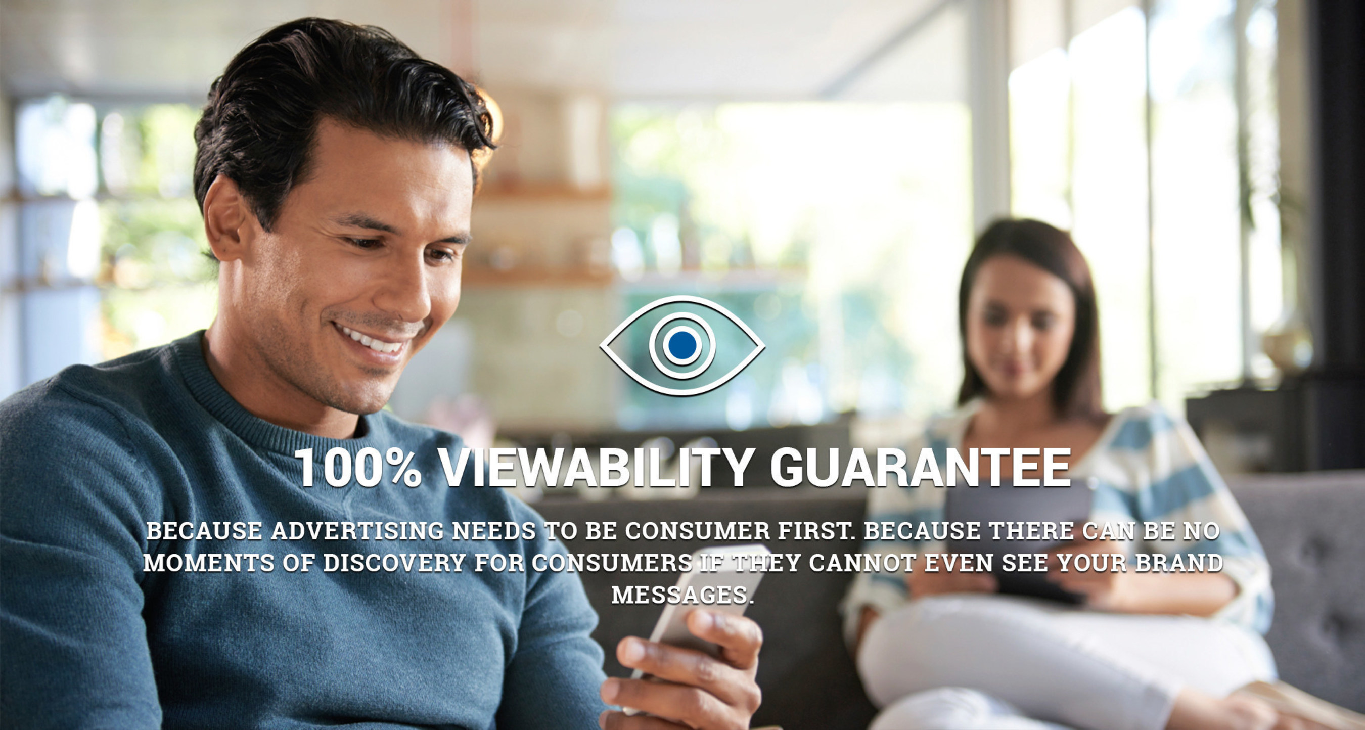 InMobi announces a guarantee of 100% viewability for all in-app mobile ad campaigns--guaranteeing to advertisers that their mobile ads were seen.