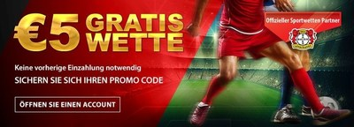 Tipbet, is the exclusive sports betting partner of the German UEFA Champions League participant Bayer 04 Leverkusen, since 2015 and is now offering a free betting bonus of euro5. This bonus may be used for any bet of your choice. The offer with the promotional code 'B04FREE' is a promotion, especially for new customers as well as all fans of Bayer 04. The code is accessible online and via smartphone. Further details for this and other promotions may be found at www.tipbet.com/bayer04. (PRNewsFoto/Tipbet Ltd)