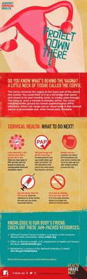 This Cervical Health poster is the first in an infographic series for HealthAwareNext's Year of Disease Awareness, a social media initiative that began in January.