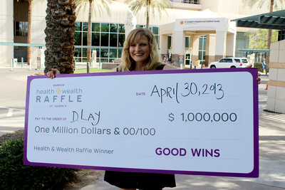 Sedona resident Dawn Lay won $1 million in the Health & Wealth Raffle benefiting Barrow & St. Joseph's Hospital.  (PRNewsFoto/The Health & Wealth Raffle, benefiting Barrow & St. Joseph's)