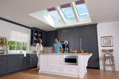 Brighten your kitchen while venting away cooking heat and odors with Energy Star-qualified solar powered fresh air skylights.  Add solar powered designer blinds for style, light control and added energy efficiency.  Both are operated by remote control and qualify for a 30 percent federal tax credit, as do installation costs.  Get details at www.whyskylights.com