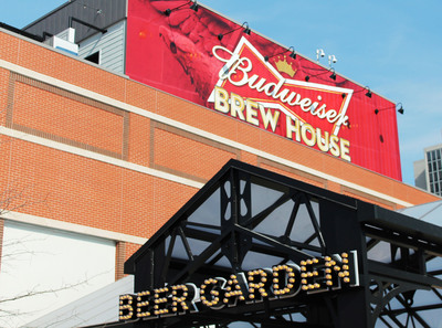 Just in time for the start of the 2014 baseball season, the new Budweiser Brew House in the much-anticipated Ballpark Village development in St. Louis will open its doors this week. Spanning three levels and 26,000 square feet, the venue includes an outdoor beer garden and rooftop deck with spectacular views of Busch Stadium.