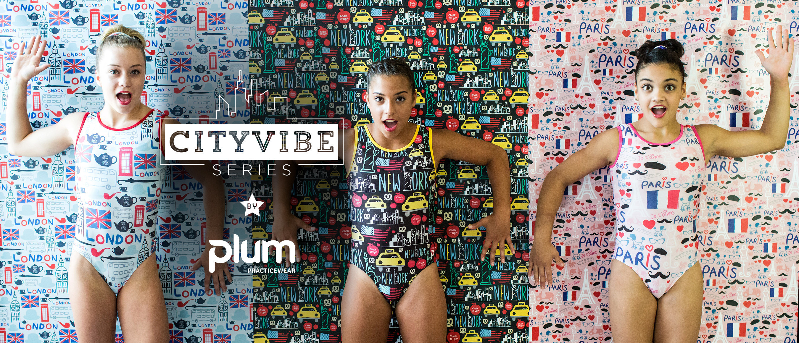 "Plum Practicewear's ""CityVibe"" Leotard Series Features Paris, NYC + London! Available at PlumPracticewear.com. Photo Credit: Bobby Bates"