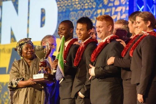 Enactus World Cup second place winners from the United States of America (PRNewsFoto/Enactus)