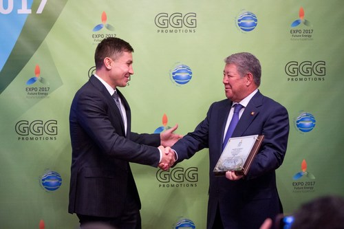 CAPTION: Gennady Golovkin, the current WBA, IBO and IBF Middleweight champion, is receiving 'Astana ...