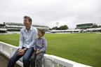 Brett Lee and Isaac Easton (6 years old, Cochlear implant user, profoundly deaf) sharing some laughs at Lords in London (PRNewsFoto/Cochlear Limited) (PRNewsFoto/Cochlear Limited)