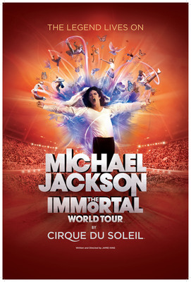 The Estate of Michael Jackson and Cirque du Soleil announced the international launch of Michael Jackson THE IMMORTAL World Tour(TM) written and directed by Jamie King. This once-in-a-lifetime electrifying production will combine Michael Jackson music and choreography with Cirque du Soleil creativity to give fans worldwide a unique view into the spirit, passion and heart of the artistic genius who forever transformed global pop culture. The tour begins October 2011 in Montreal followed by stops in select North American cities.(PRNewsFoto/Cirque du Soleil)