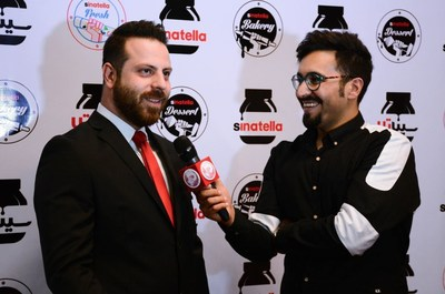 Sinatella CEO, Sina Mohammadi speaks to journalist at 1st anniversary of Sinatella (old Nutella Bar)