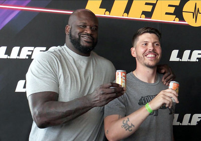 Shaquille O'Neal & Mike Miller at L.I.F.E. Launch