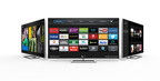 VIZIO Internet Apps Plus(TM) Continues Building Momentum with New Apps Including Spotify, Lyve, AirCastLive(R), Baeble Music, Plex and New Features Like Second Screen Experiences Supported by YouTube and Netflix. (PRNewsFoto/VIZIO)