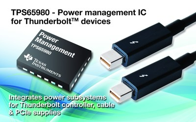 First fully-integrated Thunderbolt™ DC/DC power solution fuels bus-powered applications