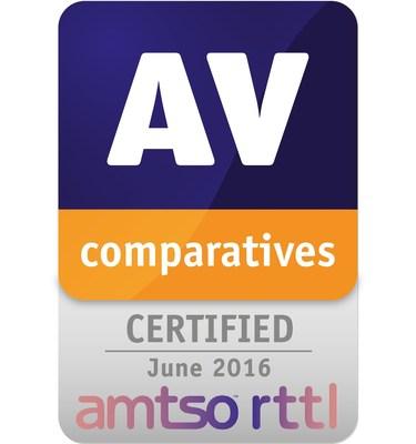 RTTL Certification (PRNewsFoto/AV-Comparatives)