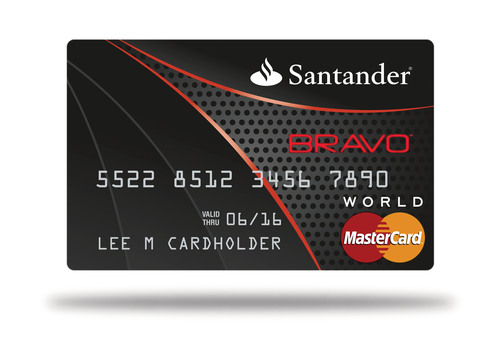 Santander launches new credit card offering a rewards program as santander bravo mastercard triple points on groceries gas and restaurants bravo points don reheart Images