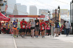 """1,100 enthusiastic runners break from the starting gate on the Atlantic City boardwalk for the first annual """"Boardwalk Run"""" 5K hosted by Chickie's and Pete's, the Philadelphia-area sports bar and restaurant chain. (PRNewsFoto/Chickie's and Pete's)"""