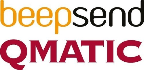 Beepsend and Qmatic Logo (PRNewsFoto/Beepsend and Qmatic)