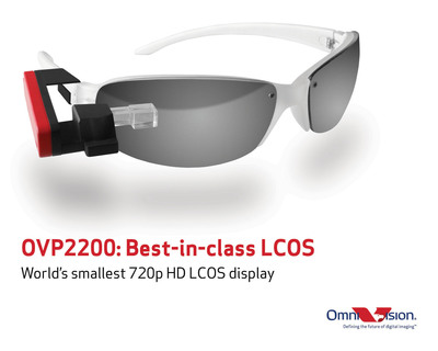 OmniVision's OVP2200 is the world's smallest 720p LCOS display.  (PRNewsFoto/OmniVision Technologies, Inc.)