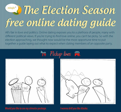 Mingle2.com Election Season Free Online Dating Guide.  (PRNewsFoto/Mingle2.com)