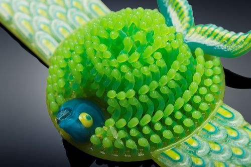 Michaella Janse van Vuuren's Fish in Coral bracelet 3D printed in one print run on the Objet500 Connex3 Color Multi-material 3D Printer (PRNewsFoto/Stratasys Ltd.)