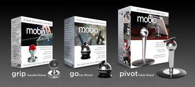 Mobio products and their packaging.  (PRNewsFoto/Mobio Holdings LLC)