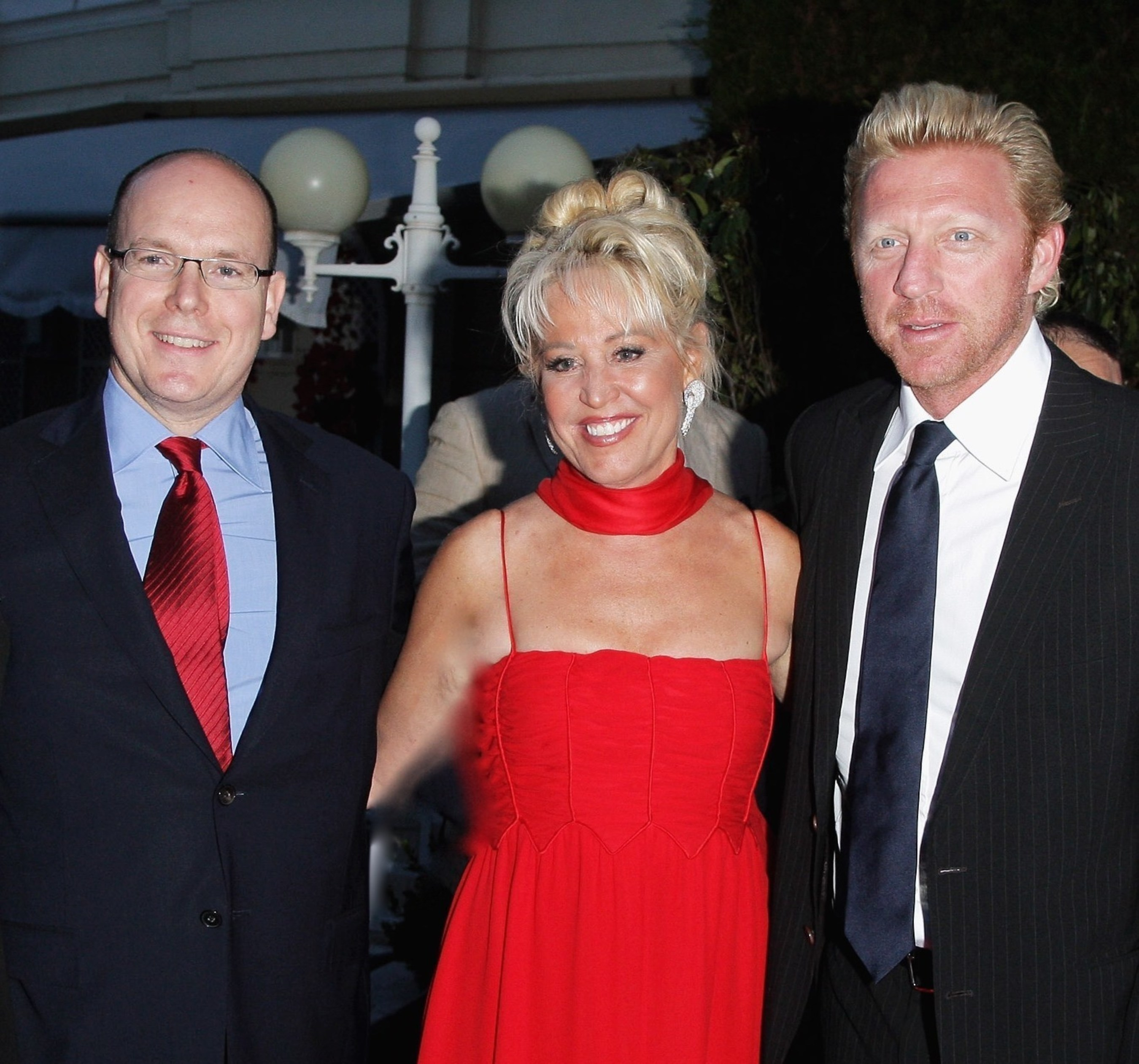 HSH Prince Albert II of Monaco with executive producer of the Better World Awards, Gina deFranco and Boris Becker attending the Better World Awards, Monte-Carlo at the Hotel de Paris.