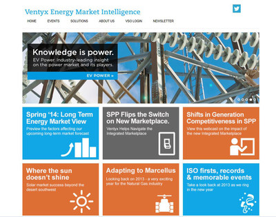 The Ventyx Energy Market Intelligence website offers insights and analysis and the latest events and trends in the energy industry. (PRNewsFoto/Ventyx)