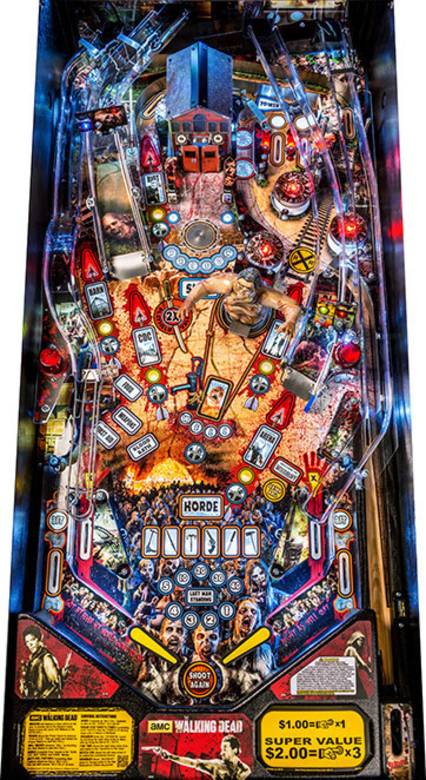 Stern Walking Dead Pro Playfield (PRNewsFoto/Stern Pinball, Inc.)