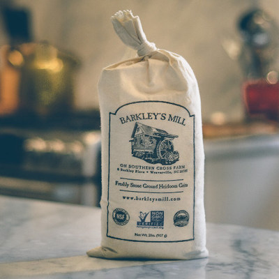 Photo Credit: Barkley's MillBarkley's Mill, a family-run farming and milling operation in North Carolina, introduces Stoned Happy Grits gourmet grits, stone-ground in small batches from the finest heirloom white corn.