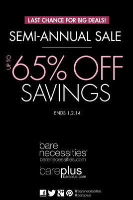BARE NECESSITIES LAUNCHES END-OF-YEAR SEMI-ANNUAL SALE.  (PRNewsFoto/Bare Necessities)